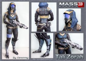 ME3 Tali Papercraft Download by Avrin-ART