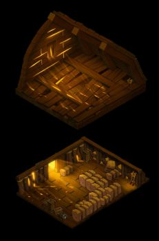 Barn Dungeon top + base by danimation2001