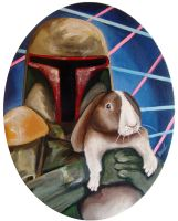 Boba Fett with Bunny by TrampLamps