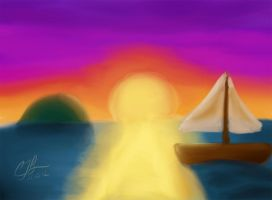 Sunset -iPad Painting- by artisticTaurean