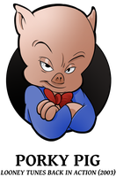 25 Looney of Christmas 2 - Porky Pig by BoscoloAndrea