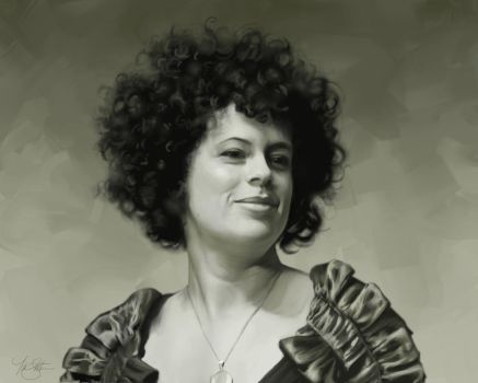 Regine Chassagne Portrait by timothysmithdesign