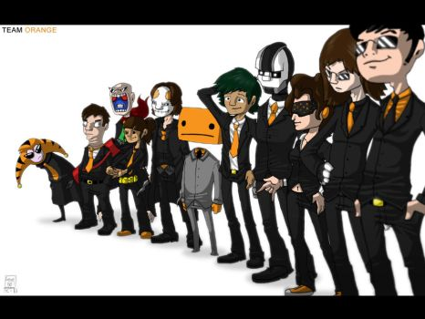 Team Orange Line-up by hyperboy