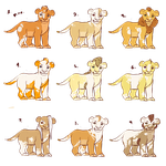 piebald cub adopts - open by 100LionAsses