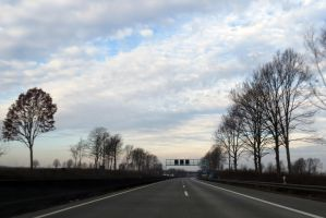 On the highway in the Netherlands by MysteriousMaemi