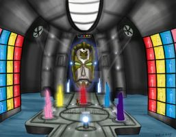 Power Rangers Megaforce command center by blueliberty