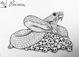 Inktober day 3 - Poisen by Cakecatlady