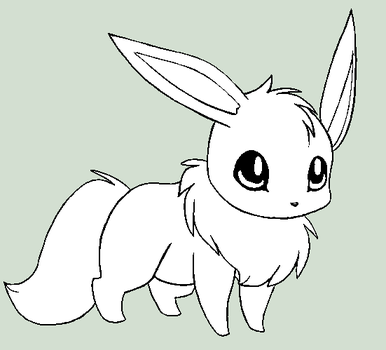 Eevee Lineart by InexpensiveAdopts