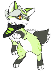 Marie the pup by FluffyFoxOfFate