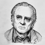 BRAD DOURIF ink pen portrait by RatTheRipper