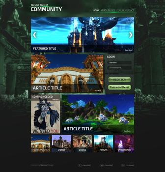 WoW Community Page Layout by NannocDesign