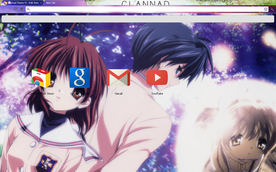 Clannad Theme for Google Chrome by iepiic