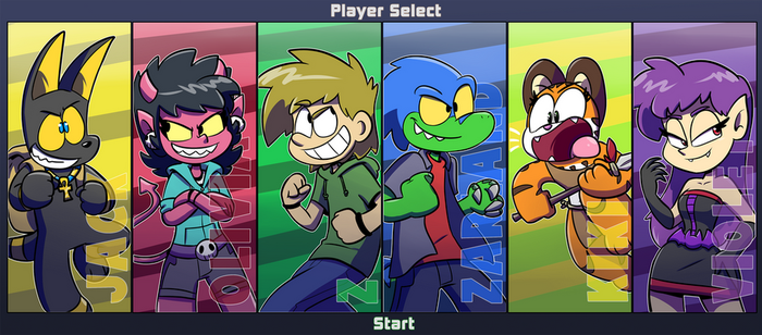 Ztoons Rumble: Player Select by Jurassiczalar