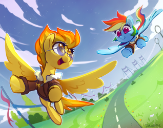 Commission: Spitfire + Rainbow Dash by Celebi-Yoshi