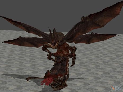 Resident evil 5 Popokarimu (Giant bat boss) by Rabbid013