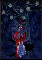V Tarot Card - The Hanged Man by dazedog
