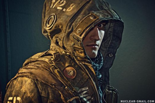 Hooded Post-Apocalyptic Dystopian Jacket by NuclearSnailStudios
