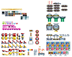 Sonic Mania Items Objects Misc Sprites by Alex13Art