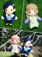 Mai-Otome plushies by oinkwarrior