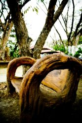 park bench by dooday