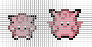 Mini: Clefairy, Clefable by Hama-Girl