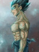 Dragon Ball Super - Painting practise 2 - Vegeta by RedViolett