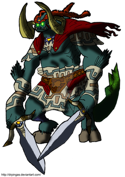 Ganon Ocarina Kingdom Hearts JR by DrPingas