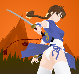 Kasumi with Background by wis13