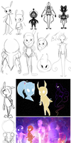 Character Design Process of Cosmi (Art Dump) by fr00tsnak