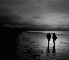 A walk on the beach by Maceo-x-
