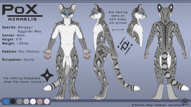PoX Azraelis -Reference Sheet 2.1 by CanineHybrid