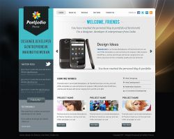 Portfolio Theme Design by sunilbjoshi