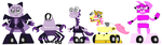 Mixels: 50 Fatal Ways: Shadons, Grace and Helion by Luqmandeviantart2000