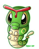 + Caterpie -010 + by PokeChibiArtist98