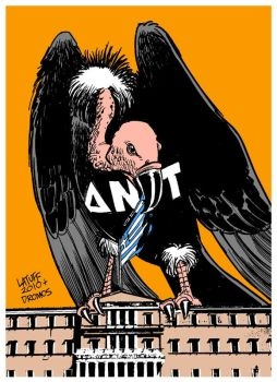 Greece and IMF A by Latuff2