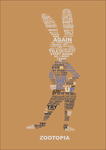 Judy Hopps - Typography Poster by SiMonk0