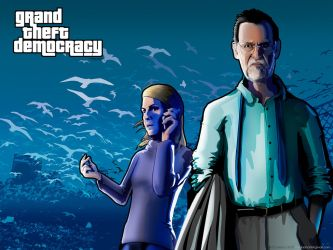 Grand Theft Democracy Rajoy And Cospedal by Loctary