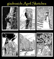April Sketches by giadrosich