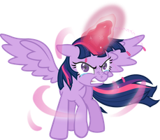 Pissed Alicorn Twilight Vector by MangaKa-Girl