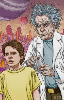 Rick and Morty by quasilucid
