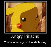 Angry Pikachu by TrishRowdy