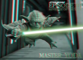 3D Yoda Comin' at Ya by homerjk85