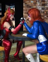 Crimson and Astra Girl - A Friendly Bout by CrimsonVlkyrie