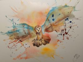 Barn Owl | SPEEDPAINT in the description by MarinaPlazaG