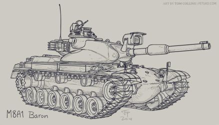 M8A1 Baron by Pyrosity