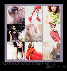 Fashion icon bases set 2 by pflee77