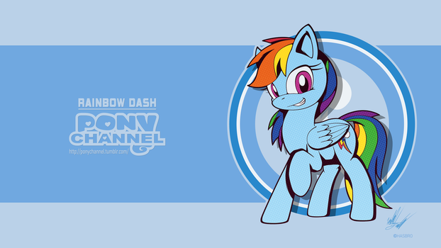 Pony Channel: Rainbow Dash by Fuzon-S