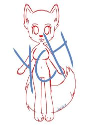 YCH Open-Anthro Chibi by Pinkwolfly