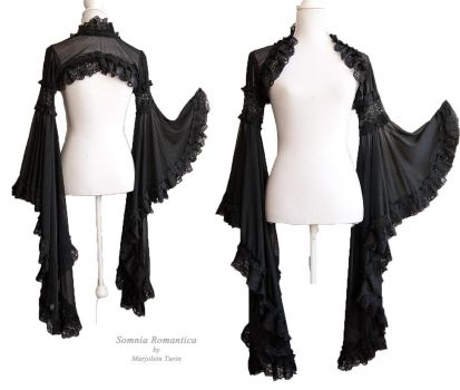 Angelic black shrug, Somnia Romantica by M. Turin by SomniaRomantica