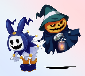Jack Frost and Pyro Jack by Otakatt